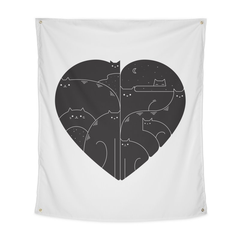 Love cats Home Tapestry by Arkady's print shop