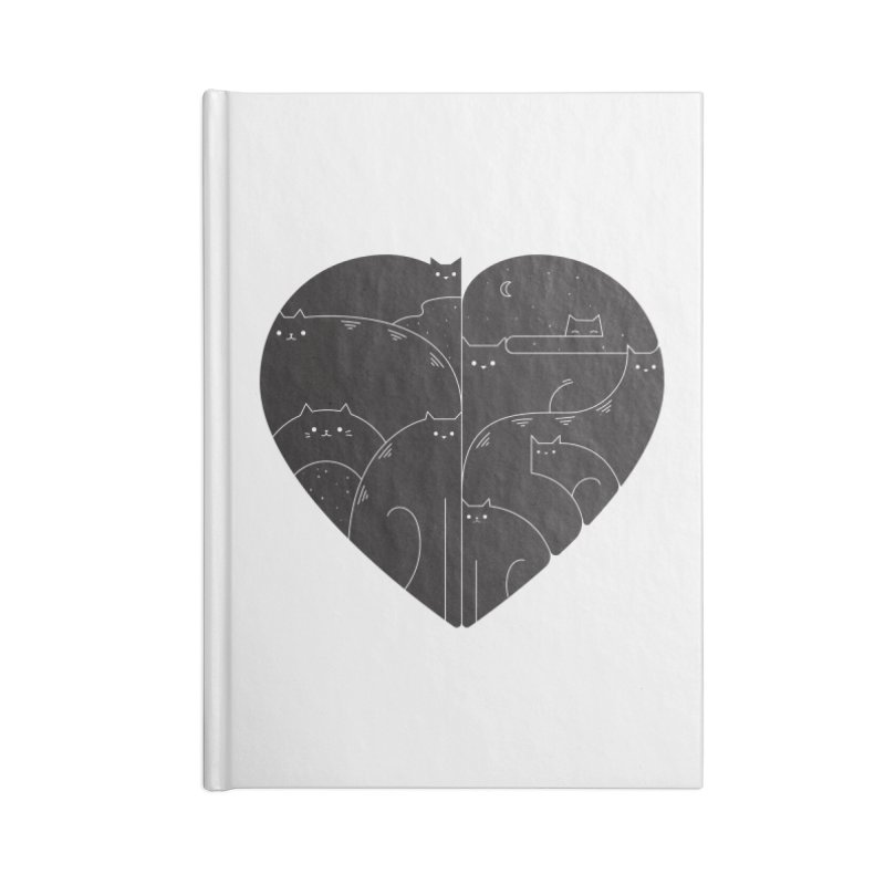 Love cats Accessories Lined Journal Notebook by Arkady's print shop
