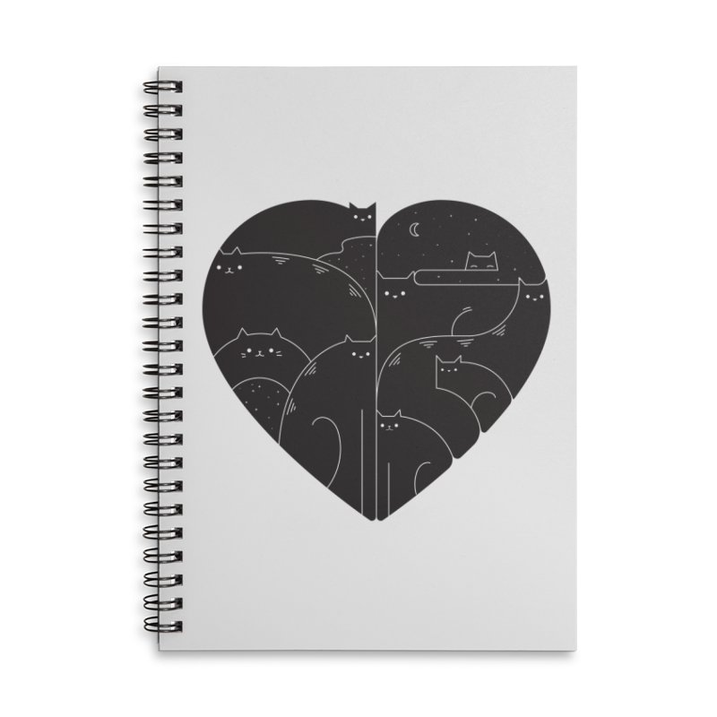 Love cats Accessories Lined Spiral Notebook by Arkady's print shop