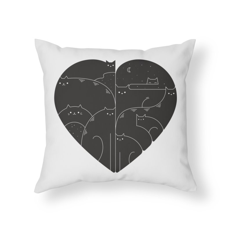 Love cats Home Throw Pillow by Arkady's print shop