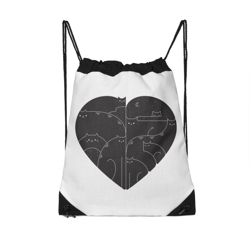 Love cats Accessories Drawstring Bag Bag by Arkady's print shop