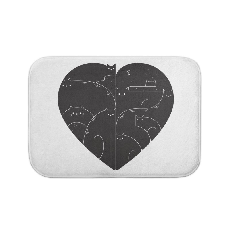 Love cats Home Bath Mat by Arkady's print shop