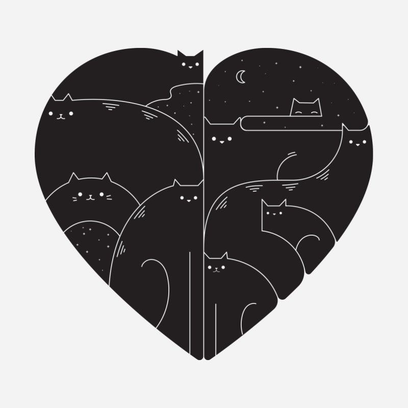 Love cats by Arkady's print shop