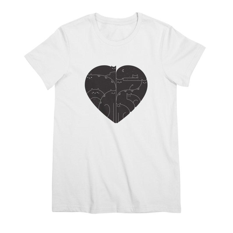 Love cats Women's T-Shirt by Arkady's print shop