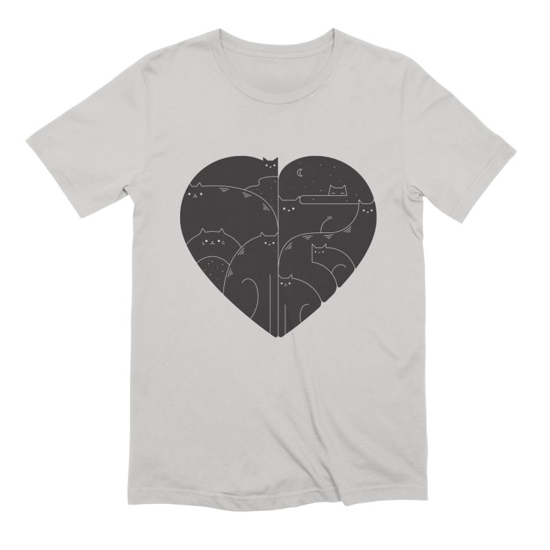 Love cats Men's Extra Soft T-Shirt by Arkady's print shop