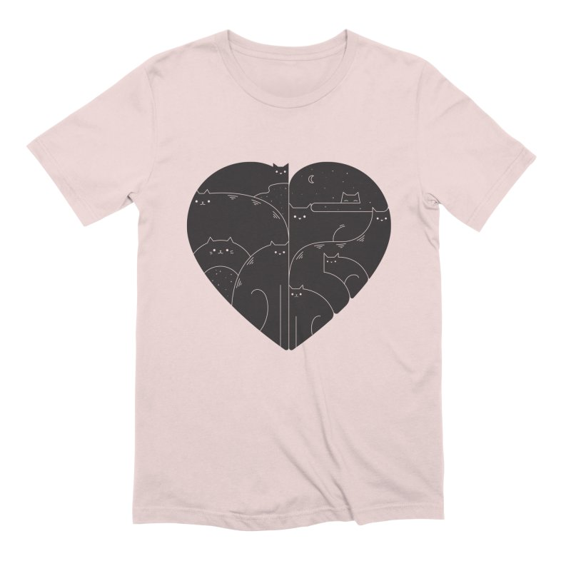 Love cats Men's T-Shirt by Arkady's print shop