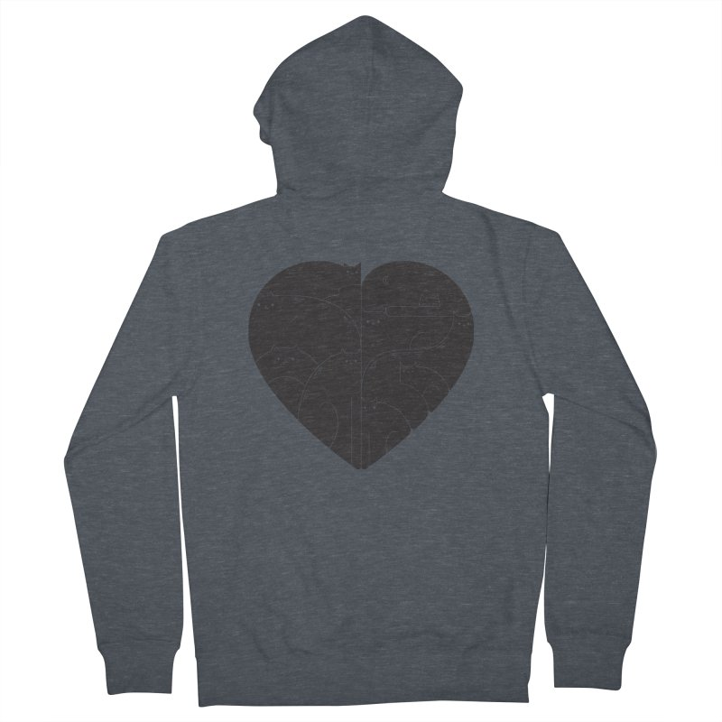 Love cats Men's Zip-Up Hoody by Arkady's print shop