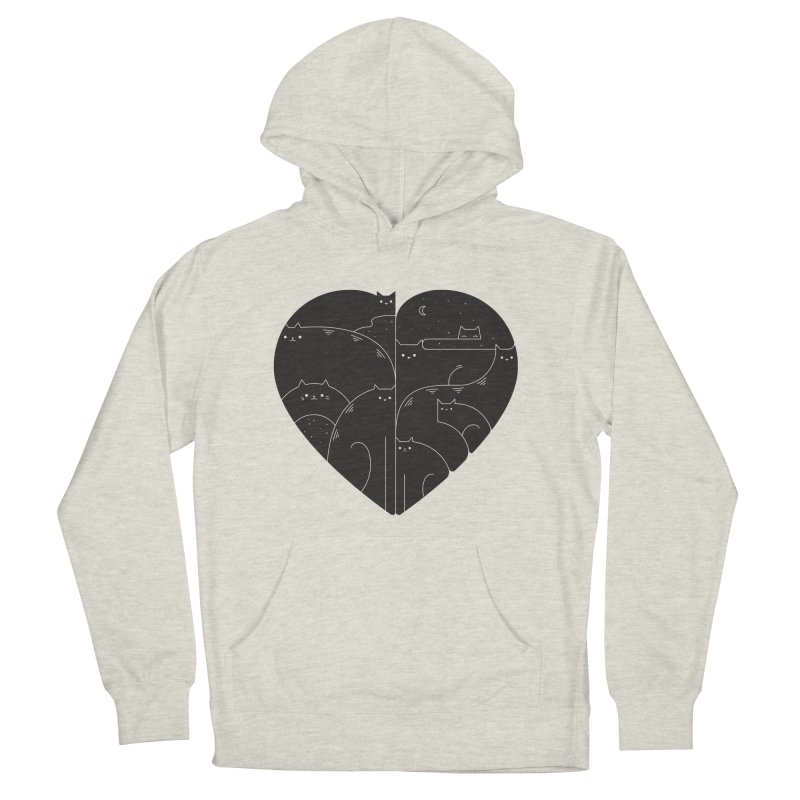 Love cats Men's French Terry Pullover Hoody by Arkady's print shop