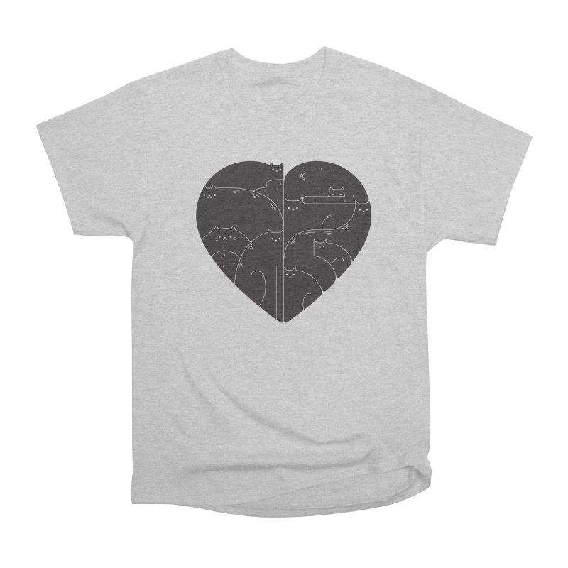 Love cats Men's Heavyweight T-Shirt by Arkady's print shop