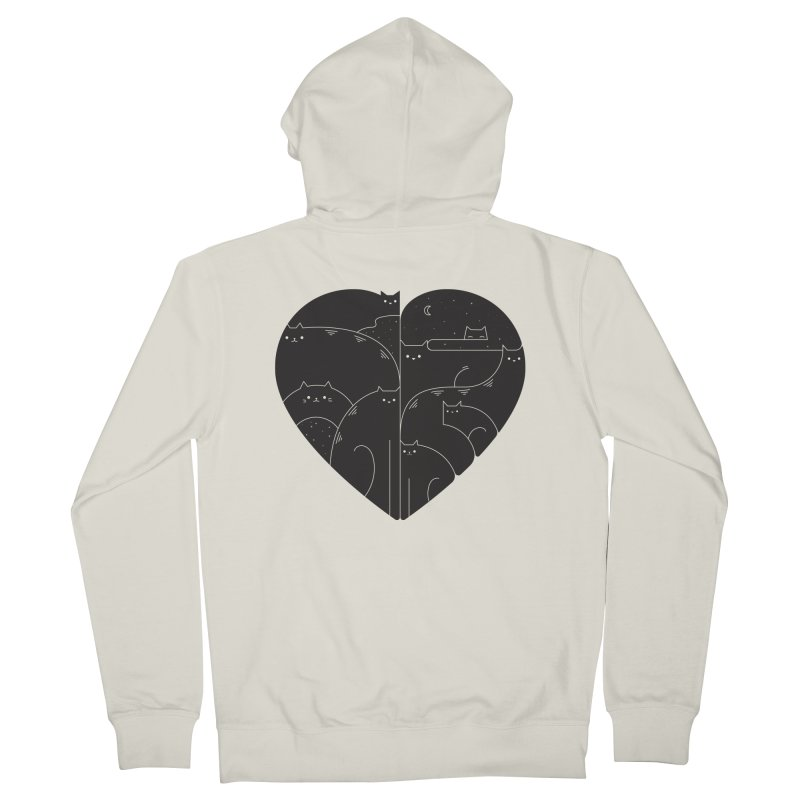 Love cats Men's French Terry Zip-Up Hoody by Arkady's print shop