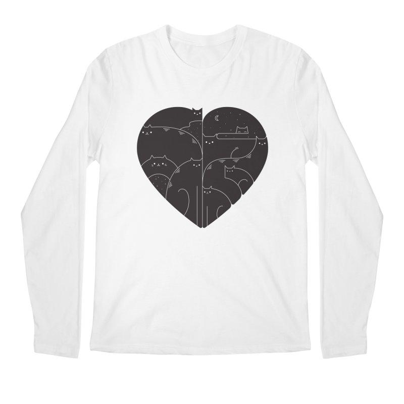 Love cats Men's Regular Longsleeve T-Shirt by Arkady's print shop
