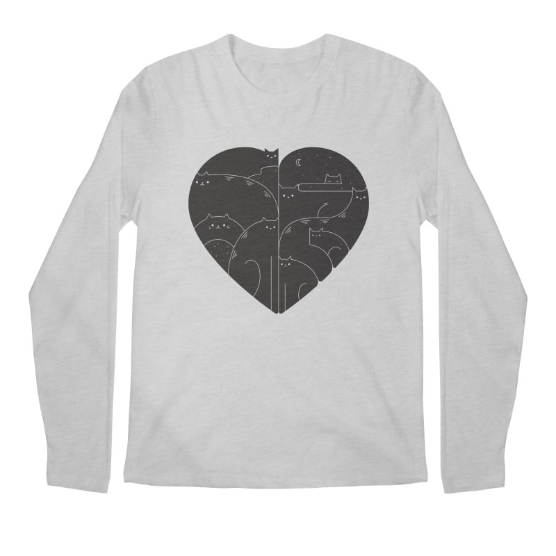 Love cats Men's Regular Longsleeve T-Shirt by Arkady's print shop