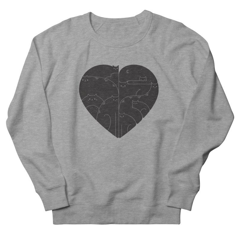 Love cats Men's French Terry Sweatshirt by Arkady's print shop