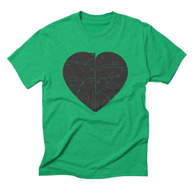 Love cats Men's Triblend T-Shirt by Arkady's print shop