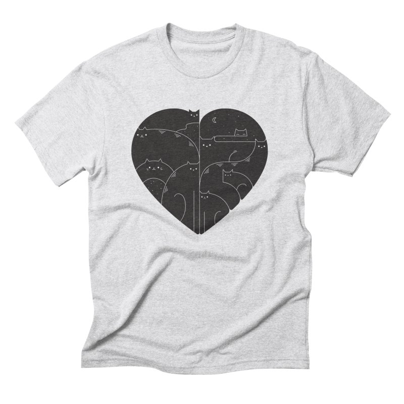 Love cats Men's Triblend T-Shirt by Arkady's print shop