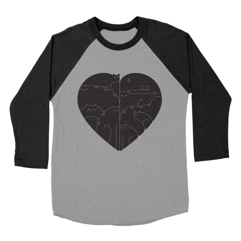 Love cats Men's Baseball Triblend Longsleeve T-Shirt by Arkady's print shop
