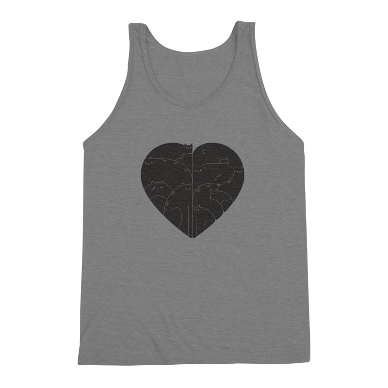 Love cats Men's Triblend Tank by Arkady's print shop