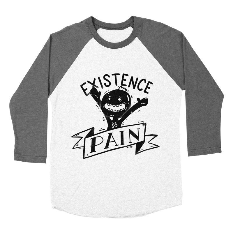 Existence is Pain Men's Baseball Triblend Longsleeve T-Shirt by Arkady's print shop
