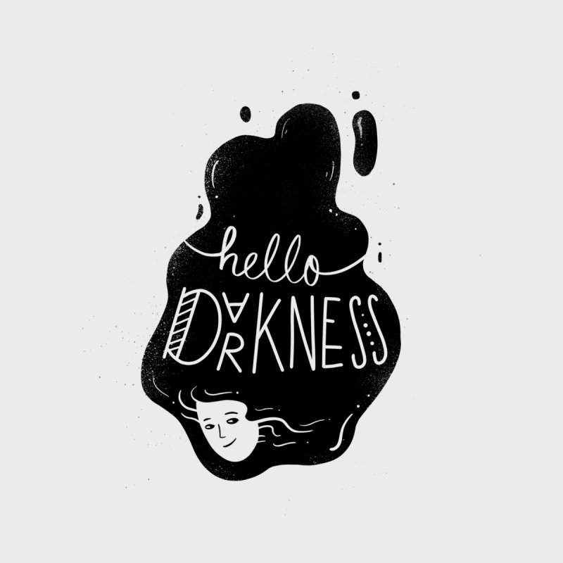 Hello darkness Kids T-Shirt by Arkady's print shop