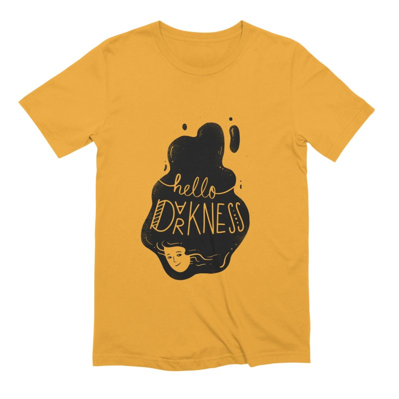 Hello darkness Men's Extra Soft T-Shirt by Arkady's print shop