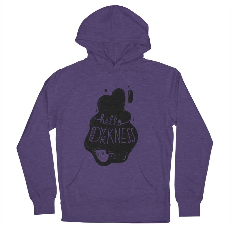 Hello darkness Men's French Terry Pullover Hoody by Arkady's print shop