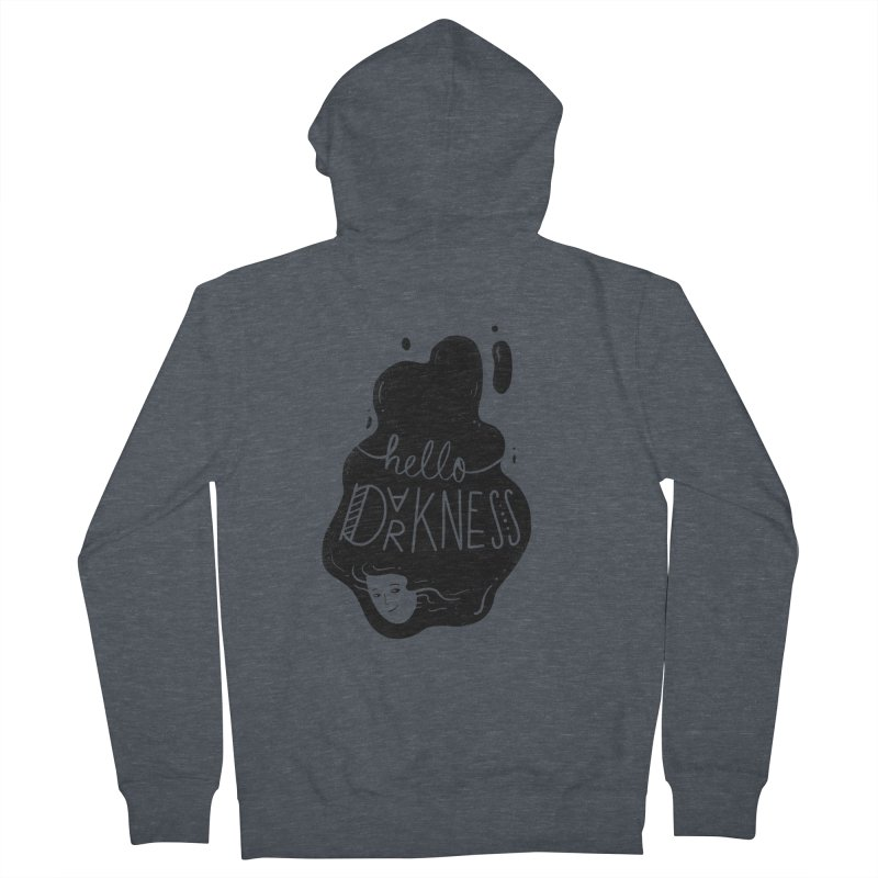 Hello darkness Women's French Terry Zip-Up Hoody by Arkady's print shop