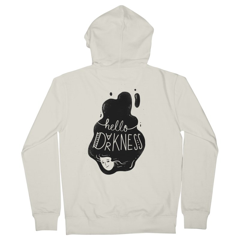 Hello darkness Men's Zip-Up Hoody by Arkady's print shop