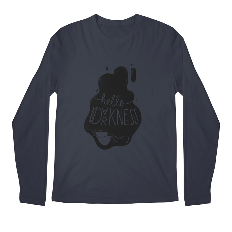 Hello darkness Men's Longsleeve T-Shirt by Arkady's print shop