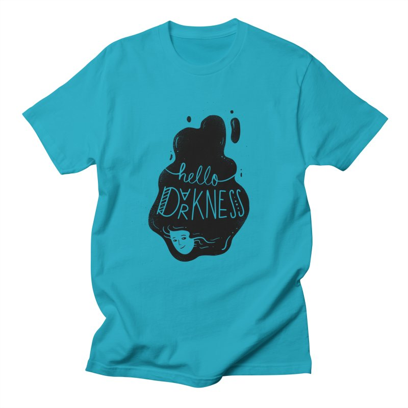 Hello darkness Men's T-Shirt by Arkady's print shop