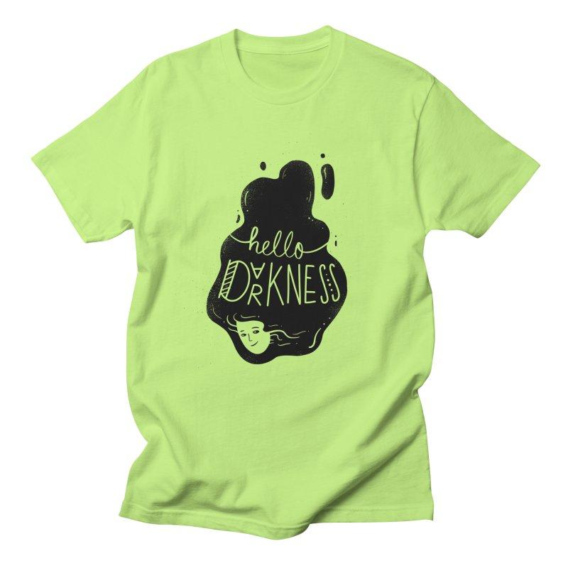 Hello darkness Women's Regular Unisex T-Shirt by Arkady's print shop