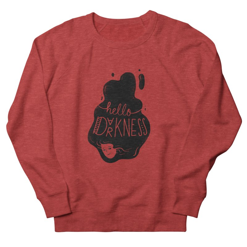 Hello darkness Men's French Terry Sweatshirt by Arkady's print shop
