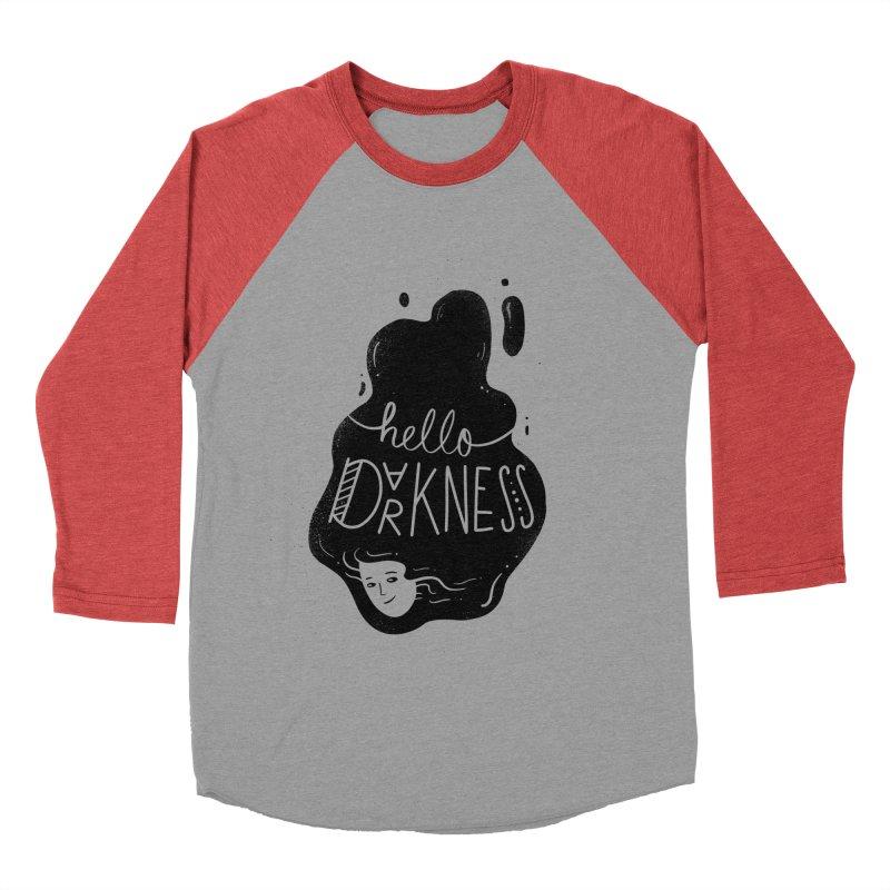 Hello darkness Women's Baseball Triblend Longsleeve T-Shirt by Arkady's print shop