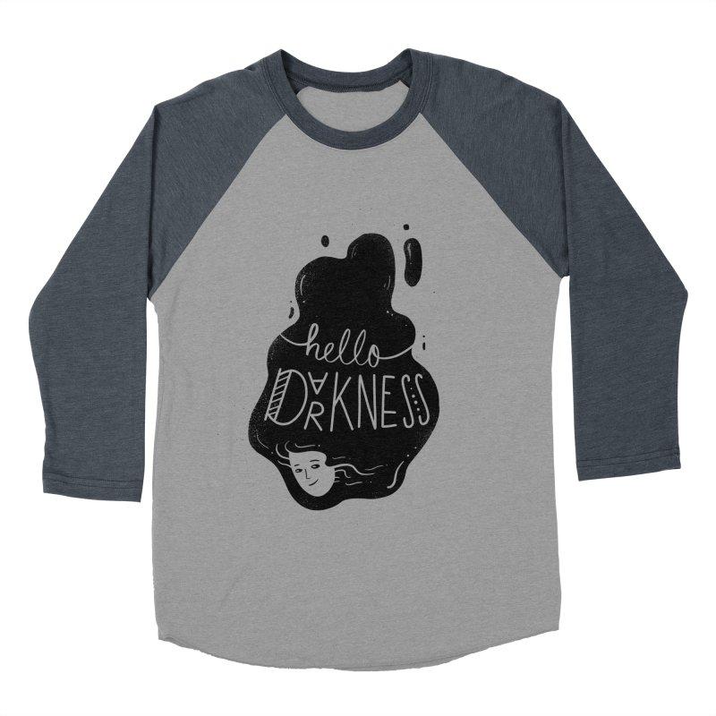 Hello darkness Men's Baseball Triblend Longsleeve T-Shirt by Arkady's print shop
