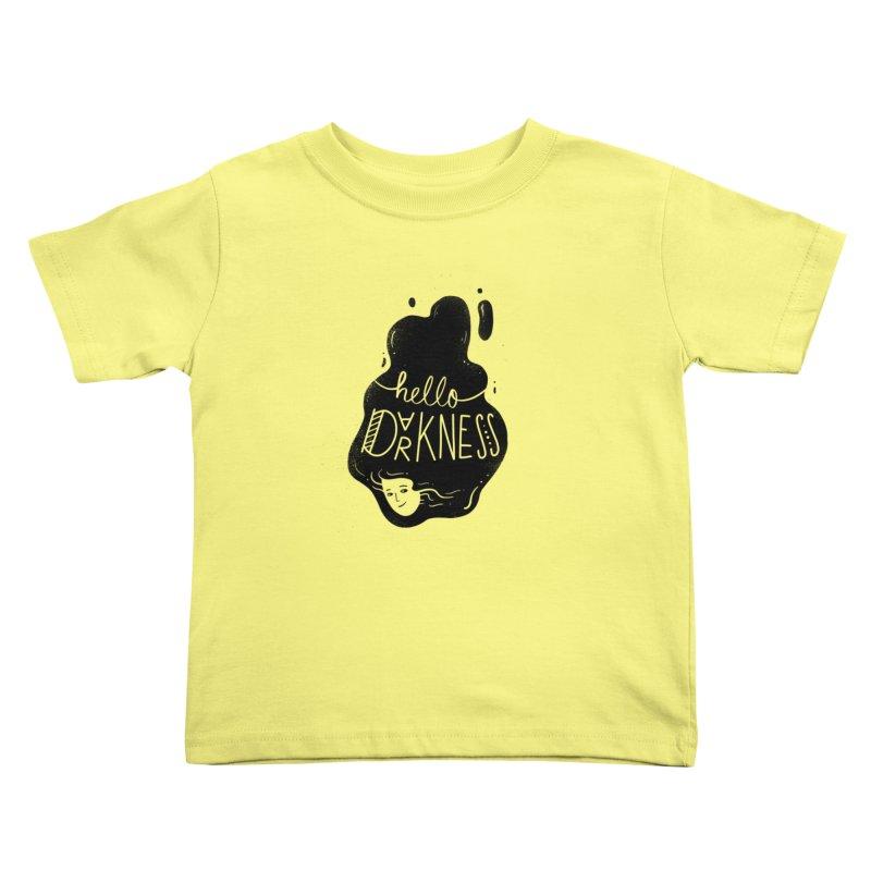 Hello darkness Kids Toddler T-Shirt by Arkady's print shop
