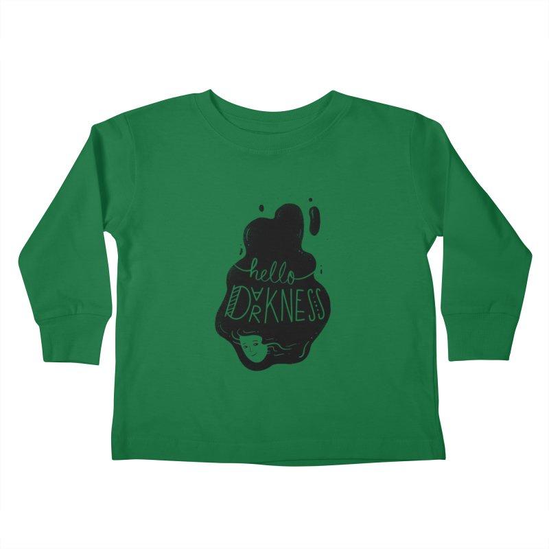 Hello darkness Kids Toddler Longsleeve T-Shirt by Arkady's print shop
