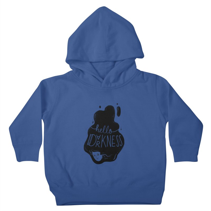 Hello darkness Kids Toddler Pullover Hoody by Arkady's print shop