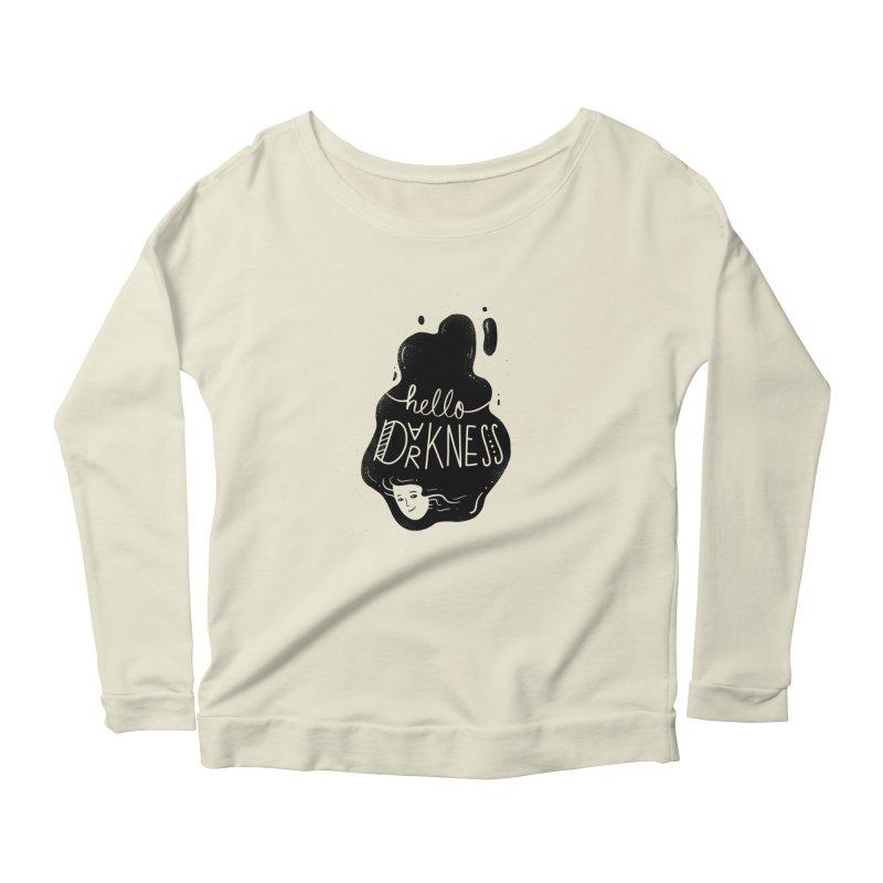 Hello darkness Women's Scoop Neck Longsleeve T-Shirt by Arkady's print shop