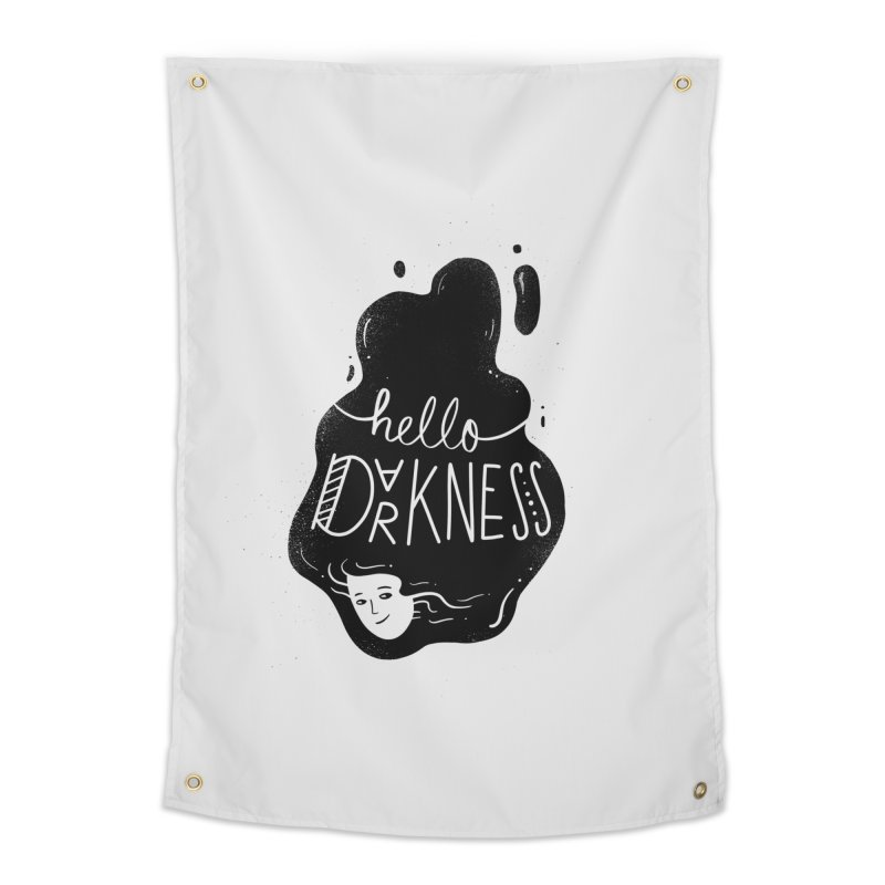Hello darkness Home Tapestry by Arkady's print shop