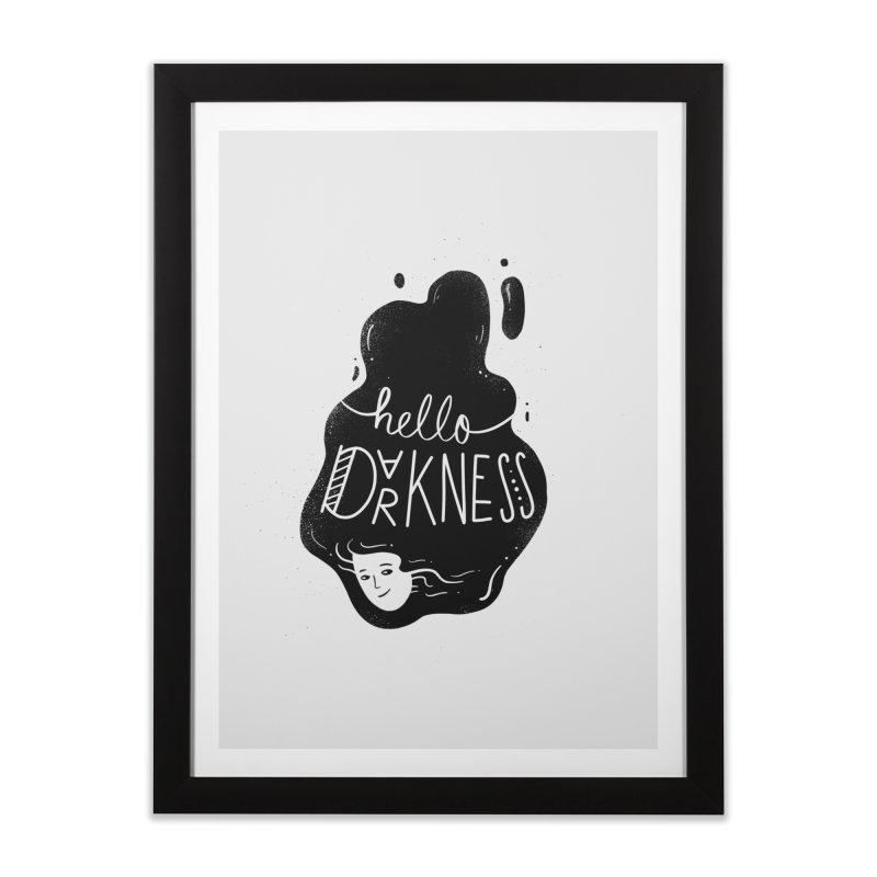Hello darkness Home Framed Fine Art Print by Arkady's print shop