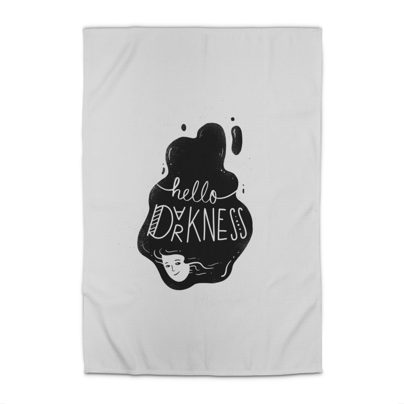 Hello darkness Home Rug by Arkady's print shop
