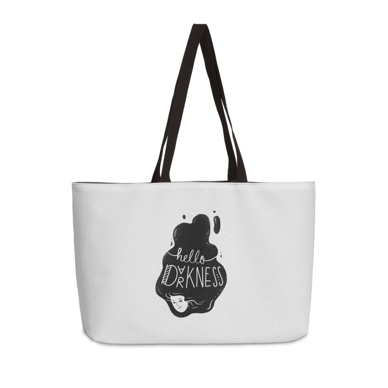 Hello darkness Accessories Weekender Bag Bag by Arkady's print shop