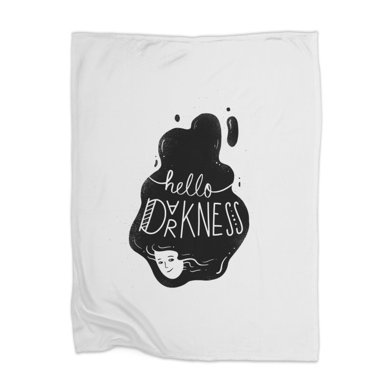 Hello darkness Home Blanket by Arkady's print shop