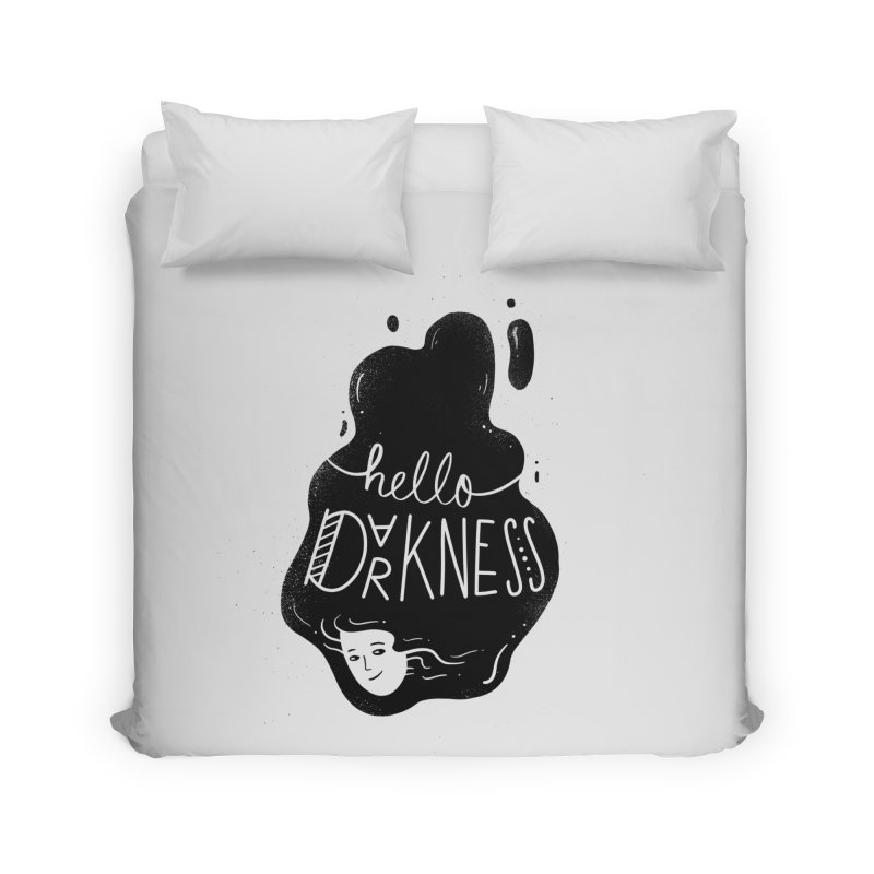 Hello darkness Home Duvet by Arkady's print shop