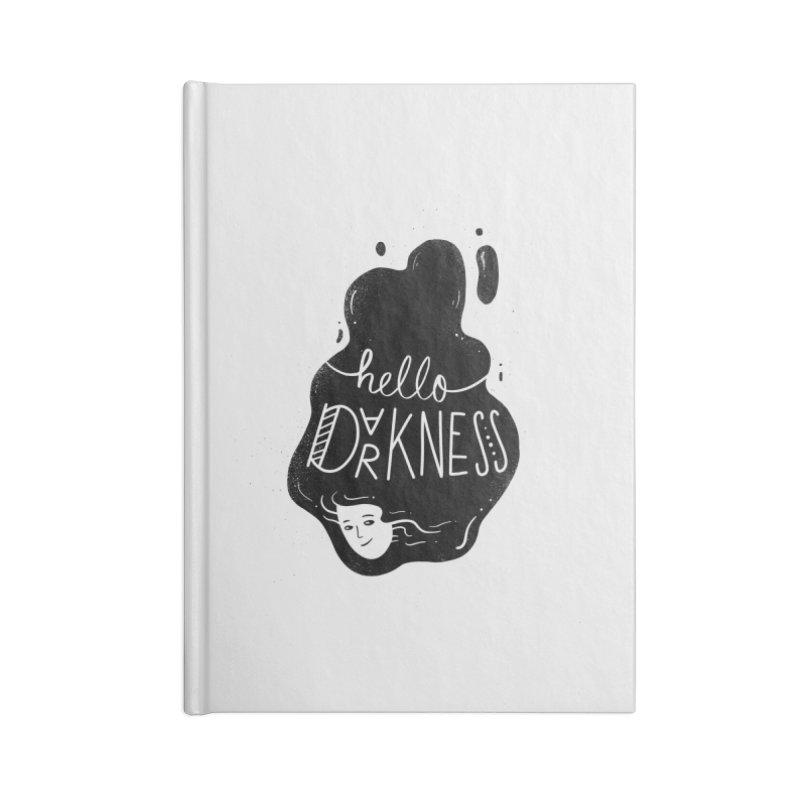 Hello darkness Accessories Lined Journal Notebook by Arkady's print shop