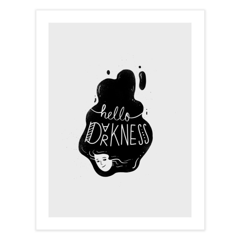 Hello darkness Home Fine Art Print by Arkady's print shop