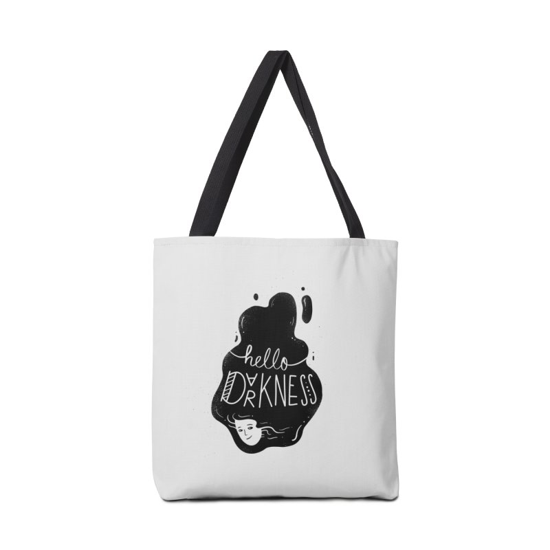 Hello darkness Accessories Bag by Arkady's print shop