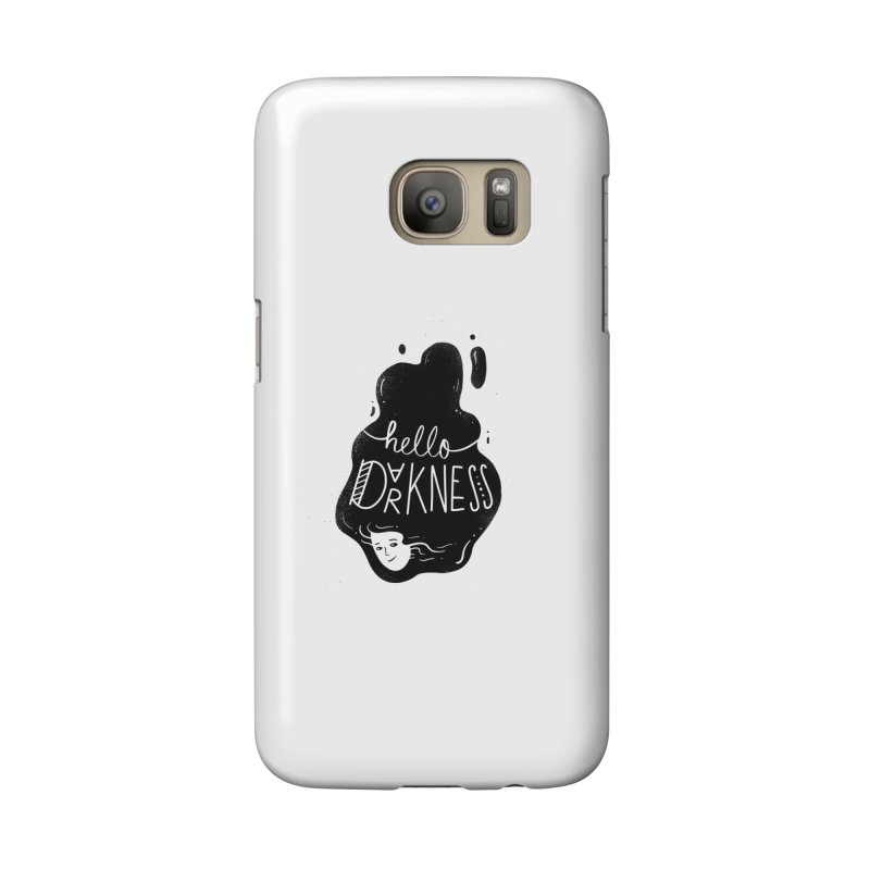 Hello darkness Accessories Phone Case by Arkady's print shop