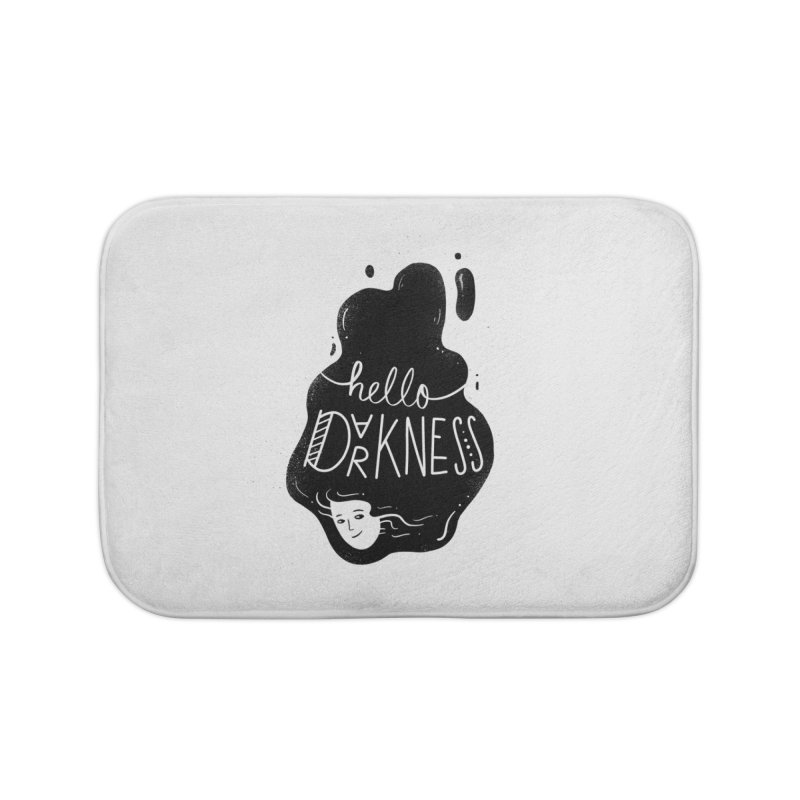 Hello darkness Home Bath Mat by Arkady's print shop