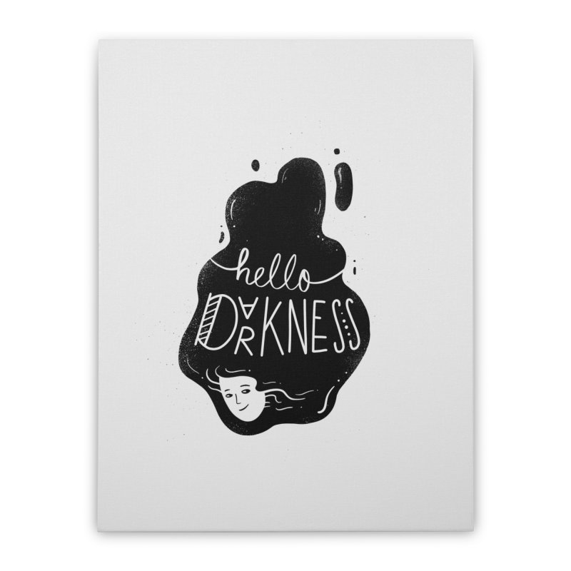 Hello darkness Home Stretched Canvas by Arkady's print shop