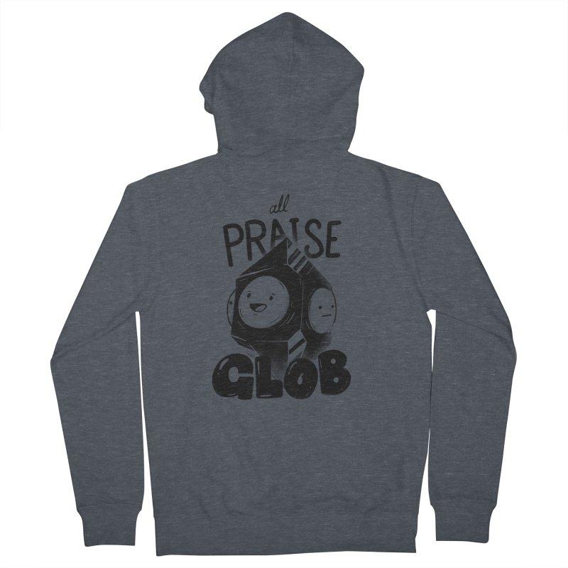Praise Glob Men's Zip-Up Hoody by Arkady's print shop